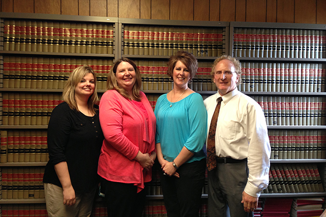 From left: Stephanie Hudson, Melanie Summers Bauler, Margaret Drost, Peter Hart (County Attorney)