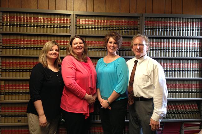 From left: Stephanie Hudson, Melanie Summers Bauler, Margaret Drost, Peter Hart (County Attorney)
